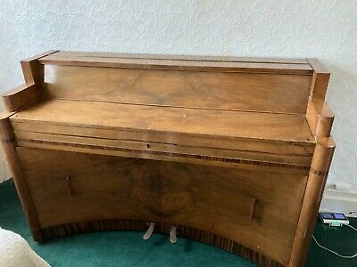 Art Deco upright STECK Piano with LOADS of music books