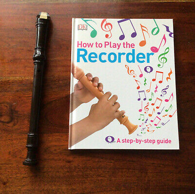 YAMAHA BLACK PLASTIC FLUTE, MUSICAL INSTRUMENT With Book -How To Play