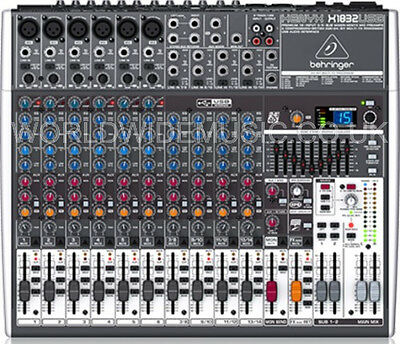 Behringer XENYX X1832USB 8-Input 3/2-Bus Mixer + XENYX Preamps & Compressors • 230£