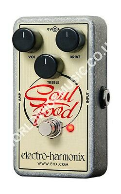 EHX Electro Harmonix Soul Food Distortion / Fuzz / Overdrive Guitar FX Pedal • 76£
