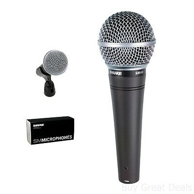 Microphone Vocal Dynamic Cardioid New Shure SM48 LC, Without On/Off Switch • 37.11£