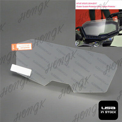 Cluster Scratch Protection Film / Screen Protector For Yamaha FZ07 / MT-07 • 20.19£