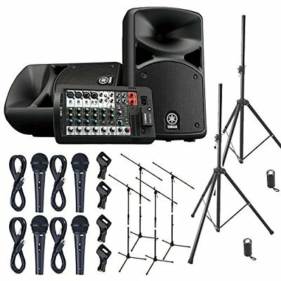 YAMAHA STAGEPAS 400 BT Band Practice ? Mini Live Speaker Set �y4 Microphone ? PA • 1,023.24£
