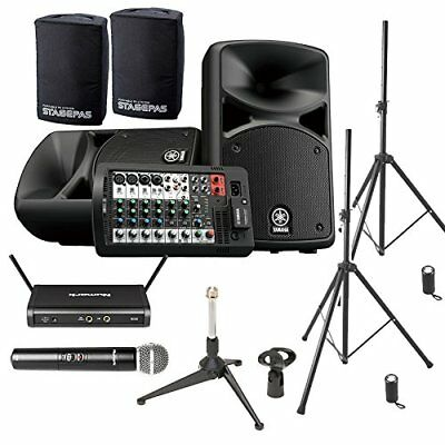 YAMAHA STAGEPAS 400 BT (with Cover) Conference ? Presentation Speaker Set �yWir • 1,054.89£