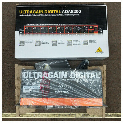 Behringer ULTRAGAIN ADA8200 ADAT Audio Interface MIDAS PreAmp Global V 100-240V • 229.02£