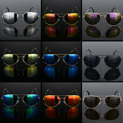 Polarized Pilot Sunglasses Men Ladies Women Unisex Mirror Vintage Retro Pilot UK • 3.69£