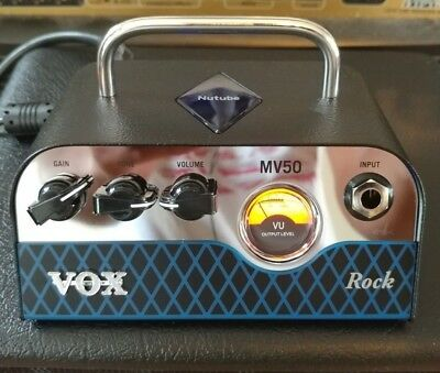 Vox MV50 Rock 50W Miniature Hybrid Tube Amp Head.Brand New In Box. NuTube.MV50CR • 177.95£