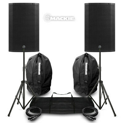 Mackie Thump15A V4 Active DJ PA Speaker 15  1300w Powered Syst With Stands, Bags • 619£