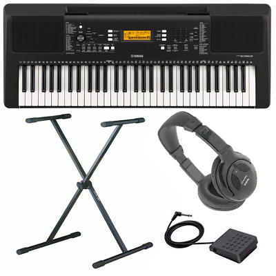 Yamaha PSR-E363 Electronic Keyboard, Sustain, Headphones & X Braced Stand • 225£