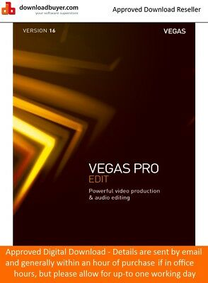 Magix Vegas Pro 16 EDIT - For PC - (Approved Digital Download) • 224.99£