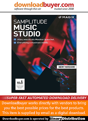 MAGIX Samplitude Music Studio 2019 - For PC - (Approved Digital Download) • 59.99£
