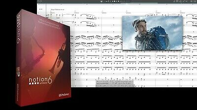 New PreSonus Notion 6 Music Notation Software Version For Mac PC EDelivery • 123.02£