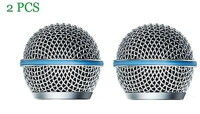 2 PCS Microphone Grille Replacement For Shure Beta58A Microphone Grille RK265G • 6.99£