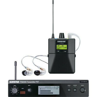 Shure P3TRA215CL PSM300 Wireless Stereo Personal Monitor System With SE215-CL  • 571.57£