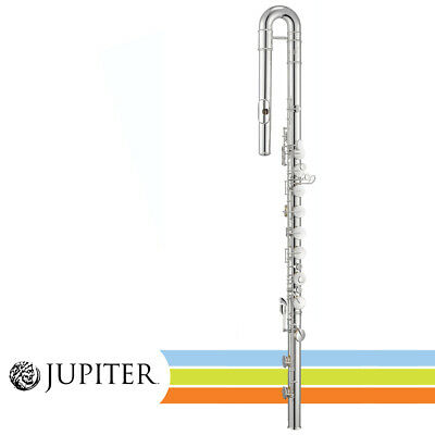 NEW Jupiter JBF1000 Key Of C Silver Plated Bass Flute With Case • 2,688.23£