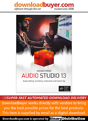 MAGIX Sound Forge Audio Studio 13 - [Download] • 19.99£