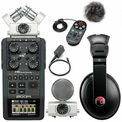 Zoom H6 Six-Track Portable Recorder W/ Accessory Pack & Resident Audio R100  • 336.98£