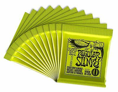 ERNIEBALL Ernie Ball Electric Guitar Strings # 2221 Regular Slinky X 12 Set • 58.62£