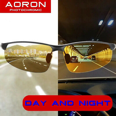 Men's Polarized Photochromic Sunglasses Day Night UV400 Driving Transition Lens • 9.89£