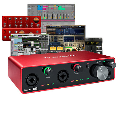 Focusrite Scarlett 4i4 3rd Gen Mk3 USB Interface With Ableton & Pro Tools • 199£