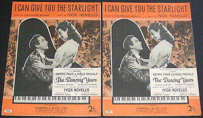 2X I Can Give You The Starlight - Christopher Hassall Ivor Novello - Sheet Music
