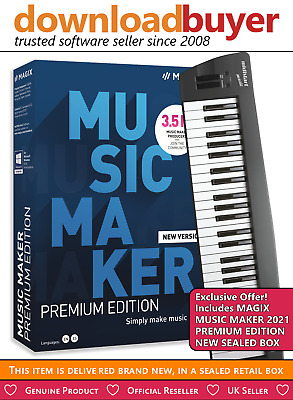 Magix Music Maker Control 2017 - With Keyboard + Plus Music Maker 80s Edition • 99.99£