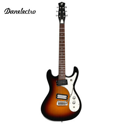 Danelectro '64XT Classic Electric Guitar With Wilkinson Vibrato 3 Tone Sunburst • 381.85£