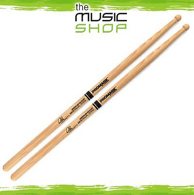 New Set Of Promark Hickory 707 Simon Phillips Drumsticks With Wood Tips - TX707W • 16.77£