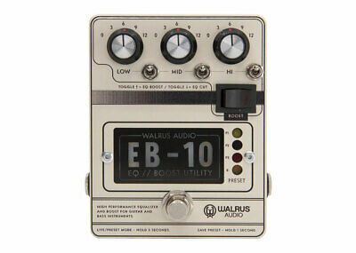 Walrus Audio EB-10 Preamp EQ Boost Cream • 176.85£
