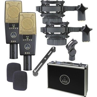 AKG C414XLII ST Matched Pair Stereo Set Condenser Microphone Set • 1,426.71£