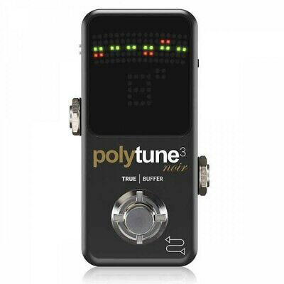 TC Electronic POLYTUNE 3 NOIR LED Guitar Tuner Pedal MINI BLACK Japan Tracking • 86.58£