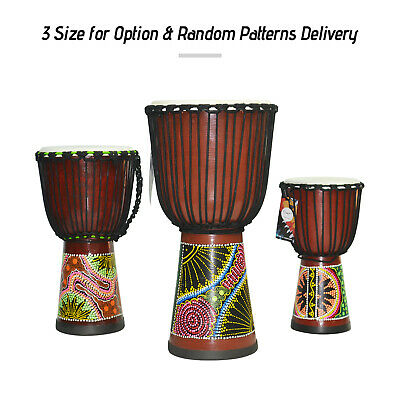 Wooden African Drum Djembe Bongo Congo Hand Drum Percussion Musical Instrument • 108.57£