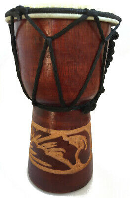 Small Djembe Drum - Authentic African Style -15 Cm High Hand Carved Fair Trade • 9.99£