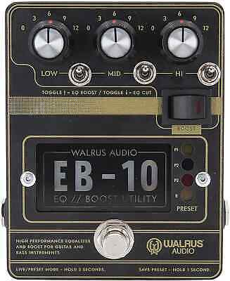 Walrus Audio EB-10 Preamp/EQ/Boost, Black, (900-1049B) • 172.25£