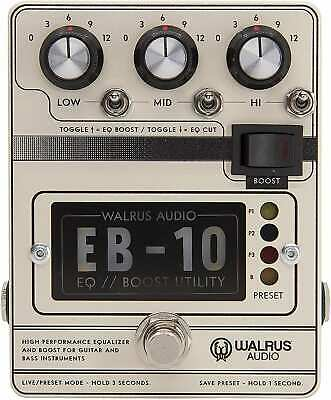 Walrus Audio EB-10 Preamp/EQ/Boost, Cream, (900-1049C) • 176.85£