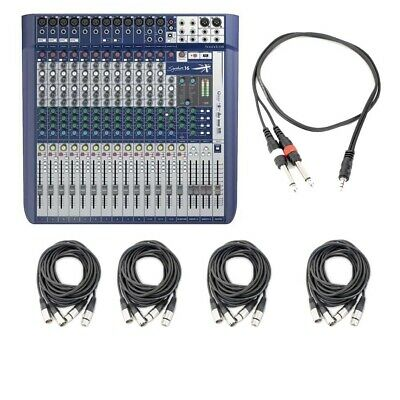 Soundcraft Signature 16 Compact Analogue Mixer With 8 XLR Cables And 1 TRS Cable • 549.96£