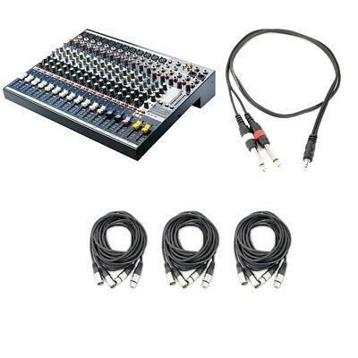 Soundcraft EFX12 12-Channel Audio Mixer With 6 XLR Cables And 1 TRS Cable • 410.27£