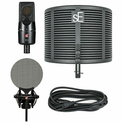 SE Electronics X1 S Studio Bundle With Mic, Reflection Filter, Pop Filter, Cable • 190.59£