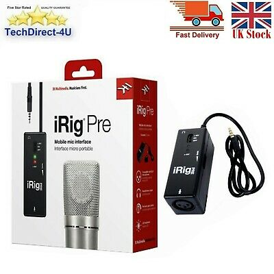IK Multimedia iRig Pre Mobile XLR Microphone interface For iOS & Android Device