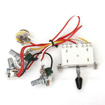 Guitar Wiring Harness Kit 5 Way Switch 500k Pots For Fender Stratocaster Strat • 7.53£