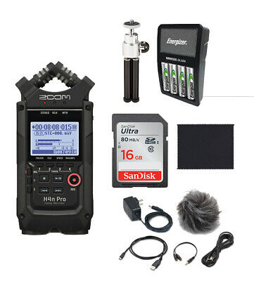 Zoom H4n Pro Black Recorder,APH4N Accessory Pack,16GB SD Rechargeable Batteries, • 236.05£