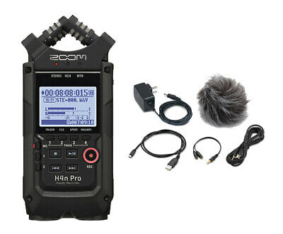 Zoom H4n Pro All Black Finish Handy Recorder And APH-4N PRO Accessory Pack • 207.44£