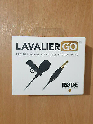 RODE Lavalier GO Professional Grade Wearable Microphone 3.5mm Clip On Mic  • 55£