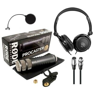 Rode Procaster Dynamic Podcasting Microphone W/ Headphones, Cable And Pop Filter • 171.33£