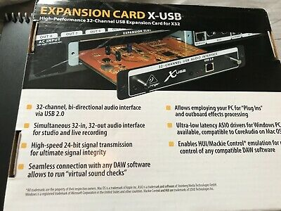 Behringer USB Expansion Card For X32 Digital Mixer Mixing Desk • 70£