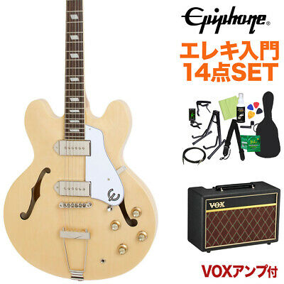 Epiphone Casino Natural Electric Guitar Beginner 14-Piece Set With Vox • 1,216.27£