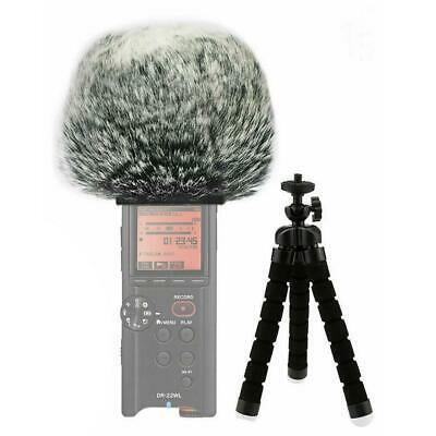 Furry Microphone Mic Windscreen Wind Muff Compatible With Tascam DR-22WL DR22 WL • 8.49£