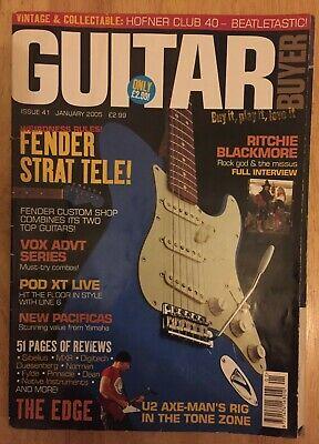 Guitar Buyer Magazine Jan 2005 Issue 41 The Edge U2 Fender Tele Strat Vox MXR • 0.99£