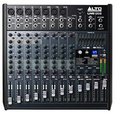 Alto Live 1202 Professional 12 Channel 2-bus Mixer W/ 100 Effects • 290.50£