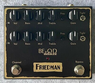 Friedman BE-OD Deluxe Dual-Channel Overdrive Pedal • 155£